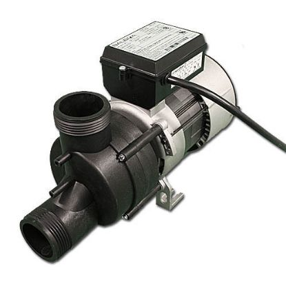 "1051057: Bath Pump, Vico Power Wow, Front/Top, 1.0HP, 115V, 9.0A, 1-1/2""MBT w/Air Switch & NEMA Cord"
