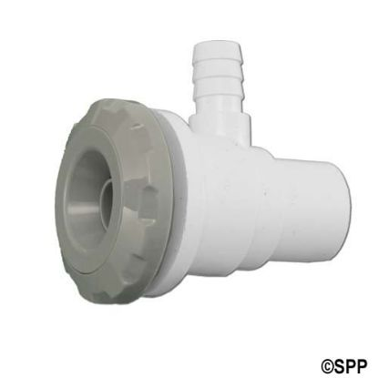 "16-2705-SILGRY: Jet Assembly, HydroAir SL Duo Blaster, 1/2""Spg Water x 3/8""B Air, 15/16"" hole size"