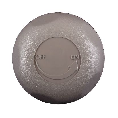 "602-4357: Knob, Valve, On/Off, Waterway, 1"" Top Access, 5-Scallop, Gray"