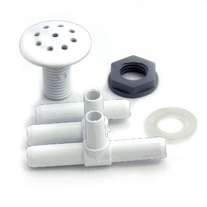 "670-2600: Air Injector, Waterway Multi-Body, 3/8"" Barb, White"