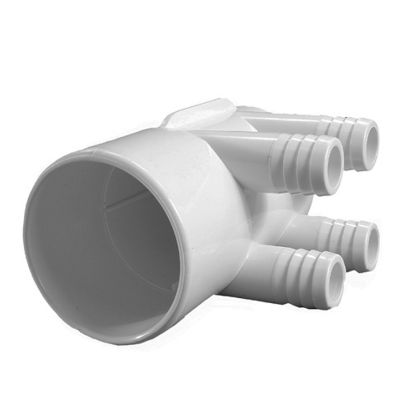 "672-7170: Manifold, PVC, Waterway, 2""S x Dead End x (4) 3/4""RB Ports"