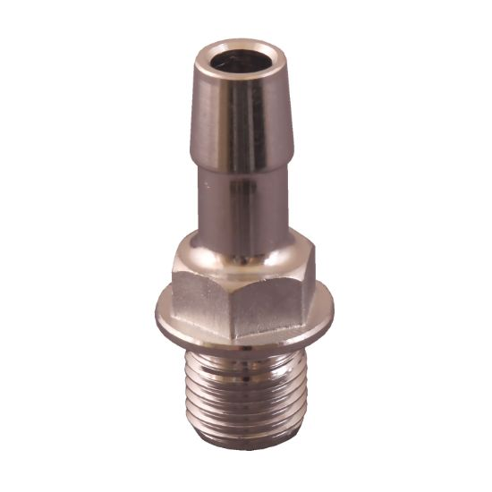 "6540-171: Adapter, Drain Plug, Sundance / Jacuzzi, 1/4""MPT x 3/8""RB, Stainless Steel, Less O-Ring 6540-263"