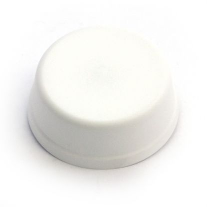 6439: Air Button, Herga, Mushroom, Surface Mount, White