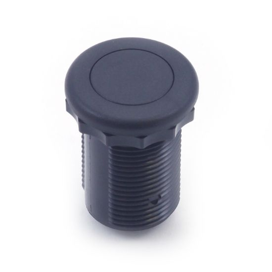 50-00602: Air Button, Therm, #15 Style, Flush, Black