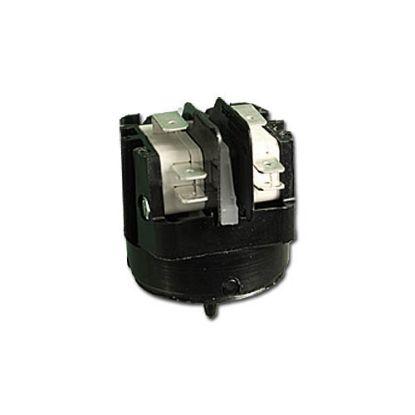 6862-AC: Air Switch, Herga, Latching, DPDT, 20A, Center Spout