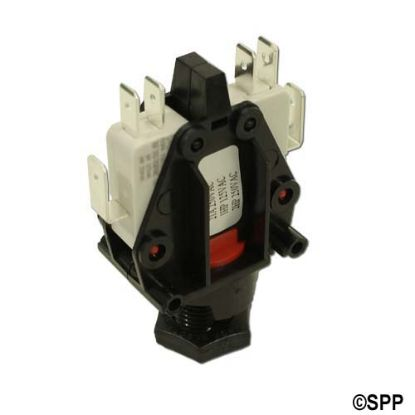 6872ACOU10: Air Switch, Herga, Latching, DPDT, 20A, Center Spout