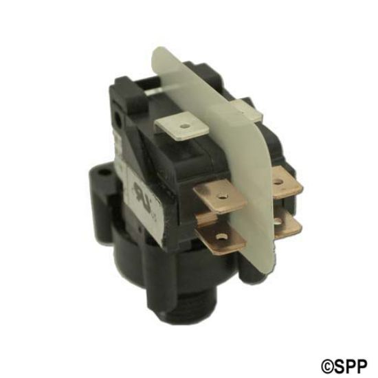 TBS-317: Air Switch, Tecmark, Latching, DPDT, 20A, Center Spout