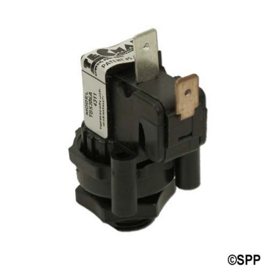 TBS-306: Air Switch, Tecmark, Latching, SPNO, 25A, Center Spout