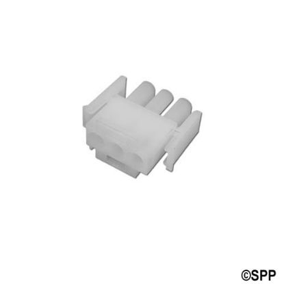 1-480700: Amp Plug, 3 Pin Male, White
