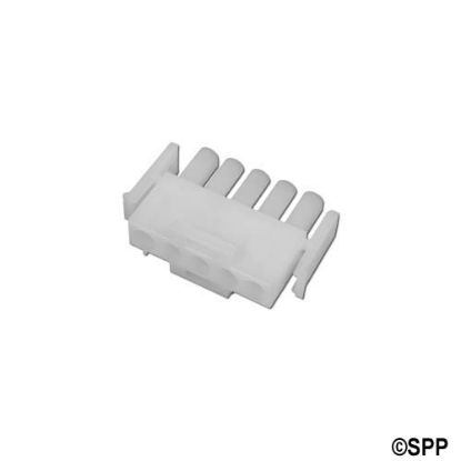 1-480763: Amp Plug, 5 Pin Male, White