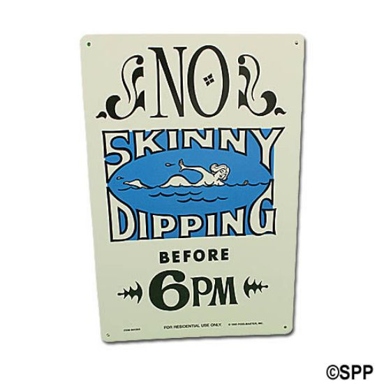 41353: Backyard Sign, No Skinny Dipping