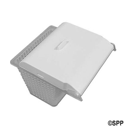 43-0785-00-R000: Basket/Float Assembly, Skimmer, Jacuzzi, SV Front Access, White
