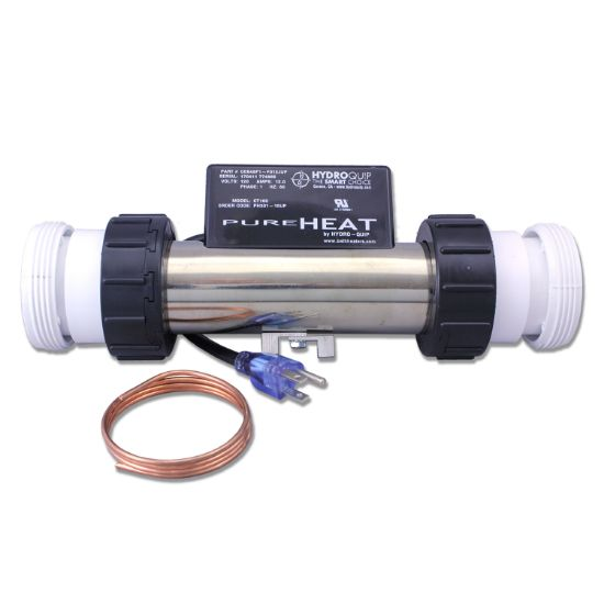 "PH301-15UP: Bath Heater, HydroQuip In-Line w/Pressure Switch, 1.5KW, 115V, 2"", NEMA Cord"