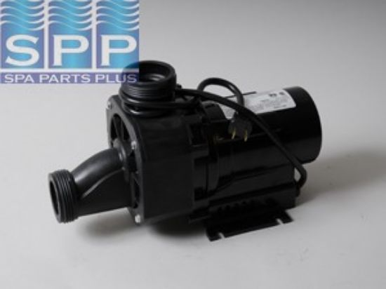 "0060F88C: Bath Pump, Balboa Gemini Plus II, 1.5HP, 115V, 12.5A, 1-1/2""MBT w/Air Switch & NEMA Cord"