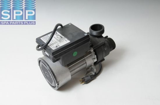 "1034600: Bath Pump, Vico Power Wow, Front/Top, 1.5HP, 115V, Variable Speed, 13.5A, 1-1/2""MBT w/Air Switch & NEMA Plug"