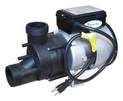 "1034016: Bath Pump, Vico Power Wow, Front/Top, 1.5HP, 230V, 6.4A, 1-1/2""MBT w/Air Switch & NEMA Plug"