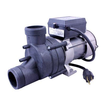 "1050032: Bath Pump, Vico Wow, Front/Top, .75HP, 115V, 7.5A, 1-1/2""MBT w/Air Switch & NEMA Cord"