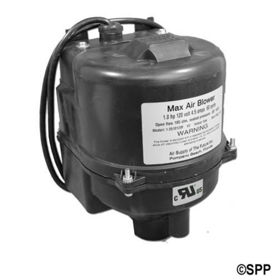 2510120-A: Blower, Air Supply Max Air, 1.0HP, 115V, 4.5A, Amp Cord