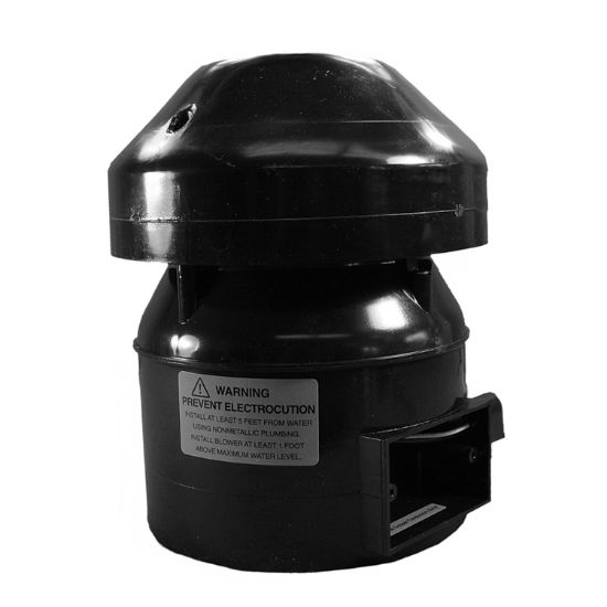 GAL1510: Blower, Outdoor, Air Supply Galaxy Supreme, 1.5HP, 115V, 9.0A, J-Box