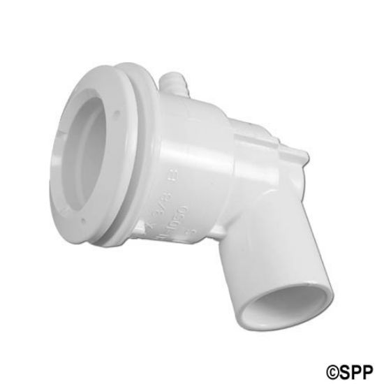 "222-1050: Body Assembly, Jet, Waterway Adjustable Mini, 3/4""S (1""Spg) Water x 3/8""B Air, 1-3/4"" Hole Size w/ Wall Fitting"