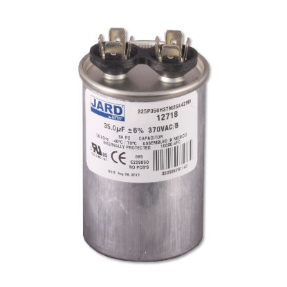 "RD-35-370: Capacitor, Motor Run, 370V, 35 MFD, 1-3/4"" Dia. x 3"" Length"
