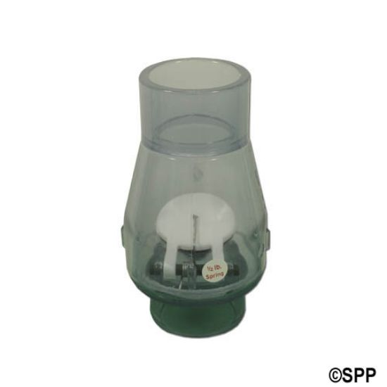 "0821-15C: Check Valve, Magic, 1/2lb Spring, 1-1/2""S x 1-1/2""S, Clear"