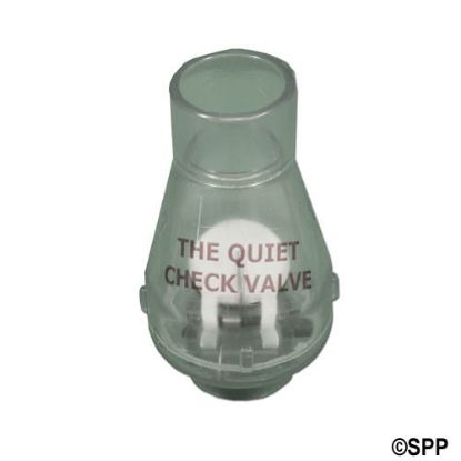 "0821-10C: Check Valve, Magic, 1/2lb Spring, 1""S x 1""S, Clear"