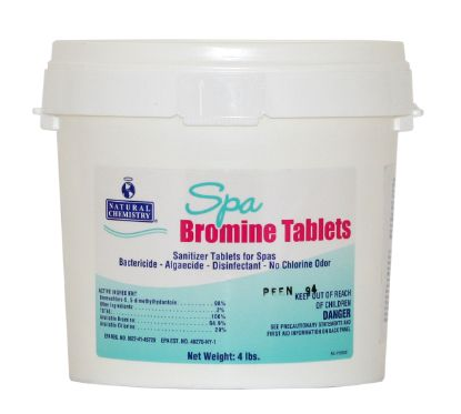 04110: Chemical, Bromine tabs, 4lbs Container