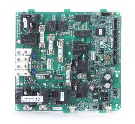 48-0027-R2: Circuit Board, HydroQuip, Outdoor, Replaces 33-0027-R1, 8 Pin JST Plug
