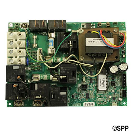 33-0024D-R3-R: Circuit Board, REFURBISHED, HydroQuip, ECO-2+2, 4220/6200/9220, JST Cable