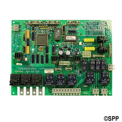 "6600-017: Circuit Board, Sundance 850 LCD, Rev 1.28FB, (1995-1996), 1 or 2 Pump, ""Perma Clear"", w/Circ Pump"