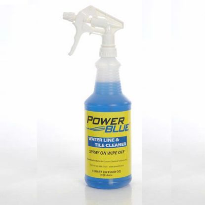 PB32: Cleaning Product, Power Blue, Waterline & Tile Cleaner, 32oz Bottle