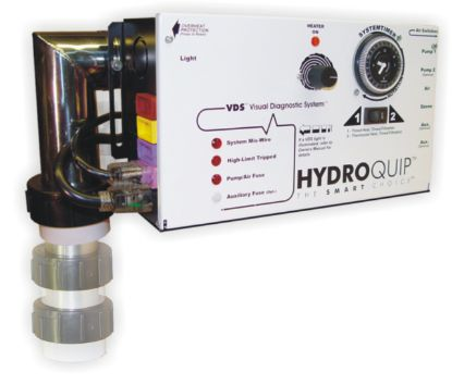 CS4009-US1: Control System, Air, Hydroquip CS4009US1 Slide, Conv. 1.4/5.5kW, Pump1, Blower Or Pump2, Light, w/ Time Clock, w/ Molded (J&J Style) Cords