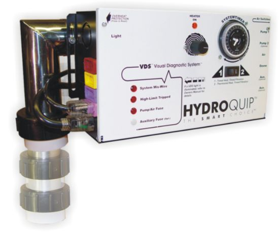 CS4009-US1-HC: Control System, Air, HydroQuip CS4009US1, Slide, Pump1, Blower w/Cords