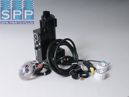CS500T-A: Control System, Air, HydroQuip CS500, 120V, 1.1kW, Pump1 (120V), Blower (120V), Light (120V HOT), w/ Time Clock, w/ Molded (J&J Style) Cords & 15A GFI Cord