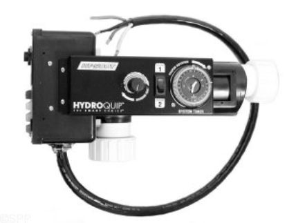 CS-500T-C: Control System, Air, HydroQuip CS500, 230V, 4.5kW, Pump1 (120V), Blower (120V), Light (120V HOT), w/ Time Clock, w/ Molded (J&J Style) Cords