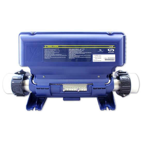 0610-221002A: Control System, Gecko IN.YE-5, 1.0/4.0kW, Pump1, Blower/Pump2 (1 or 2 Spd), AMP Receptacles, Less Cords & Spaside