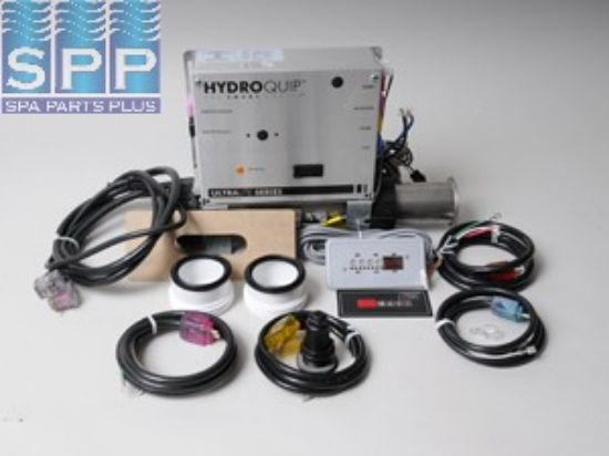CS7508-US-VH: Control System, (Kit), HydroQuip CS7508, Versa-Heat, 1.4/5.5kW, Pump1, Blower/Pump2 (1 Spd), Circ Pump Option, w/Molded Cords & ECO-6 Spaside