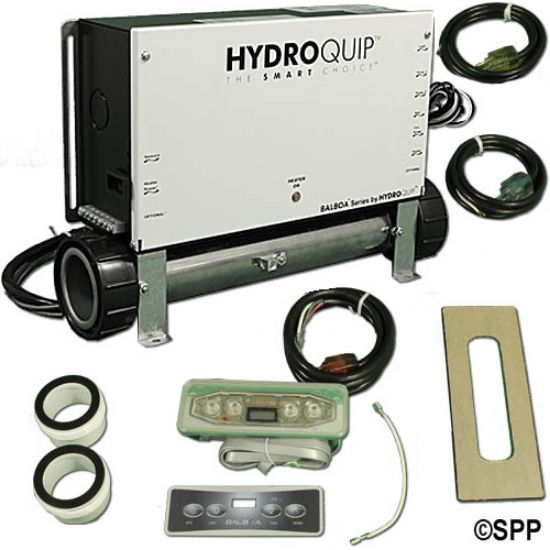 CS6109B-US-F: Control System, (Kit), HydroQuip VS500Z (Bundle), M7 Slide, 1.4/5.5kW, Pump1, w/Molded Cords & VL401 LCD Spaside