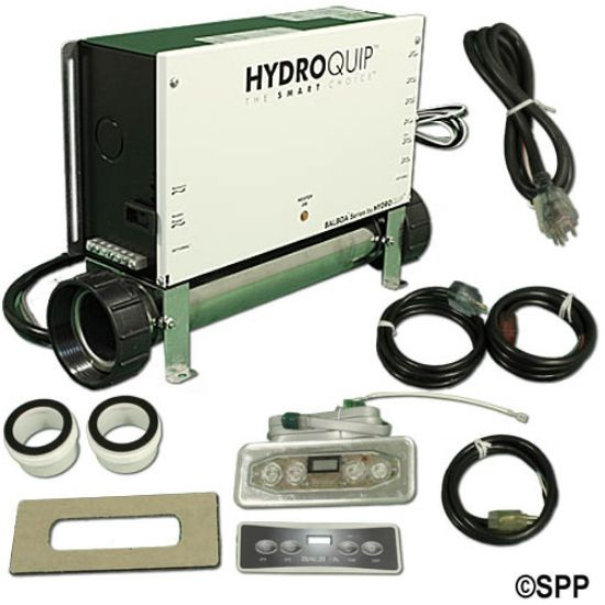 CS6229B-US-F: Control System, (Kit), HydroQuip VS511Z, M7 Slide, 240V, 5.5kW,  Pump1, Pump2 (2 Spd), w/Molded Cords & VL401 LCD Spaside
