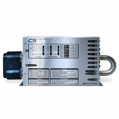 SPP-CLT7: Control System, (Kit), United Spa C5, Lo-Flo, 1.4/5.5kW, Or 230V (3-Wire), Circ Pump, Pump1, Pump2, Blower/Pump3, w/AMP Cords & T7 Spaside