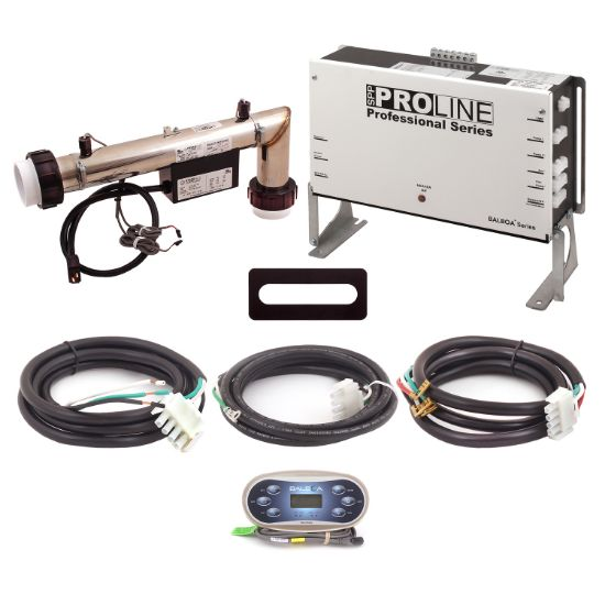 PL6209BP-L45T-T60J-00: Control System, Proline, BP501G1, 120/240V, 1.125/4.5Kw L-Shaped Titanium, 1 Pump- 2 Speed, Blower, Ozone, w/TP600 Spaside, Overlay- (Jet, Jet, Aux, Warm, Light, Cool) & Cords
