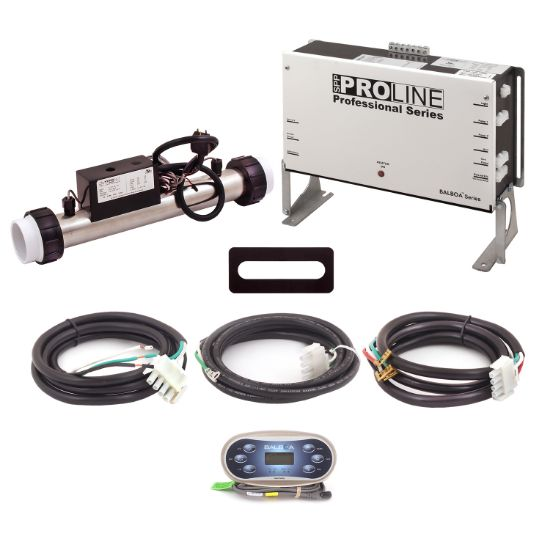 PL6209BP-S40T-T60J-01: Control System, Proline, BP501G1, 120/240V, WiFi Module, 1.0/4.0Kw Slide Titanium, 1 Pump- 2 Speed, Blower, Ozone, w/TP600 Spaside, Overlay- (Jet, Jet, Aux, Warm, Light, Cool) & Cords