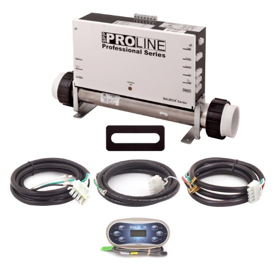 PL6209BP-F55-T60J-01: Control System, Proline, BP501G1, 120/240V, WiFi Module, 1.375/5.5Kw, 1 Pump- 2 Speed, Blower, Ozone, w/TP600 Spaside, Overlay- (Jet, Jet, Aux, Warm, Light, Cool) & Cords