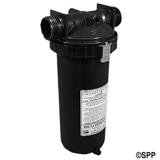 "500-2570: Filter Assembly, Waterway, In-Line, 25 Sq Ft, 1-1/2""MBT w/ By-Pass Valve, White"