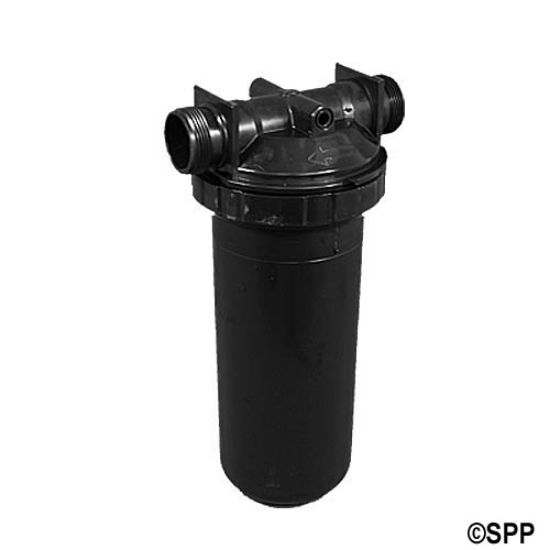 "500-5090: Filter Assembly, Waterway, In-Line, 50 Sq Ft, 1-1/2""MBT w/ By-Pass valve & Brominator, w/ Cartridge"