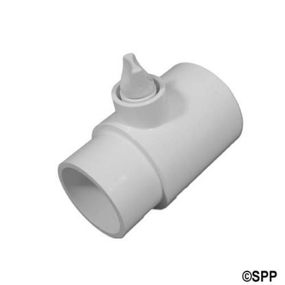 "400-4260: Fitting, PVC, Adapter Tee Assembly w/Relief Plug, 2""S x 2""Spg x 3/8""FPT"