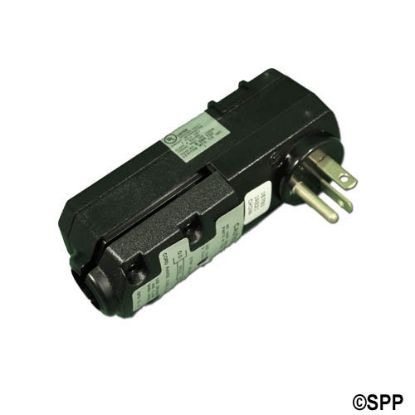 16793: GFCI, Leviton, Cord End, 90°, 115V, 20 Amp, No Cord, Black