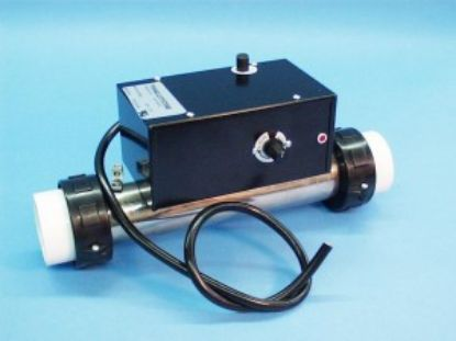 "48-7100-10: Heater Assembly, Aquatemp, 1.5kW, 115V, 2"" x 10""Long, w/Enclosure, T-Stat, Hi-Limit, Pressure Switch, Tailpieces"