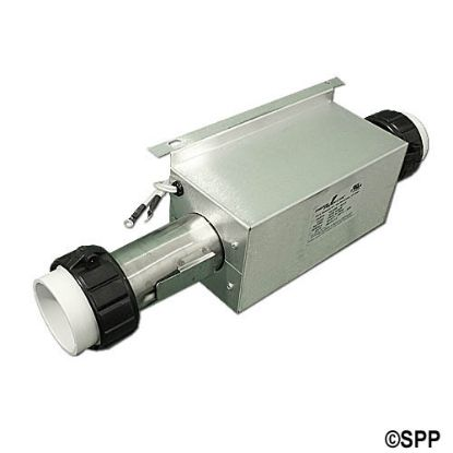 "C2400-0011: Heater Assembly, Cal Spa, 4.0kW, 230V, 2"" x 15""Long, w/Enclosure, 1/8"" Pressure Tap, Auto Reset Hi-Limit, 2""Tailpieces"